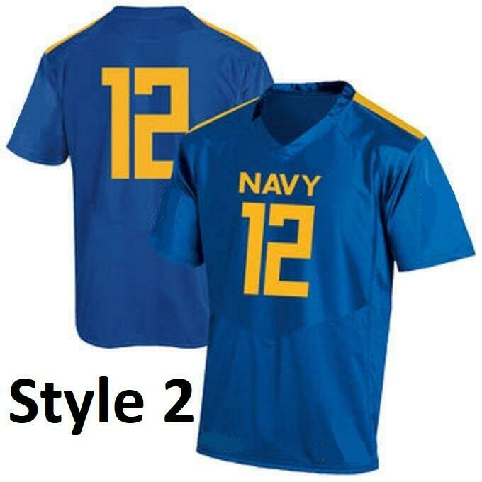 Navy Midshipmen Customizable Football Jersey Style 2