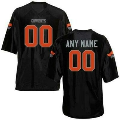 Oklahoma State Cowboys Customizable Football Jersey Style 1