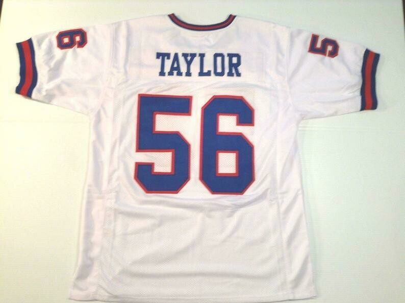 Lawrence Taylor UNSIGNED CUSTOM Made White Jersey