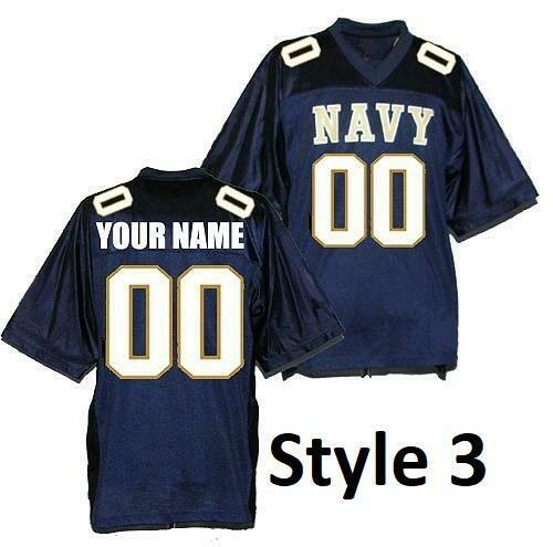 Navy Midshipmen Customizable Football Jersey Style 3