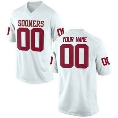 Oklahoma Sooners Customizable College Football Jersey Style 1