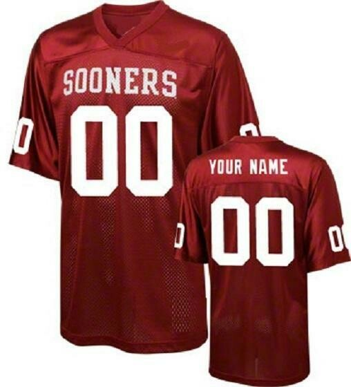 Oklahoma Sooners Customizable College Football Jersey Style 2