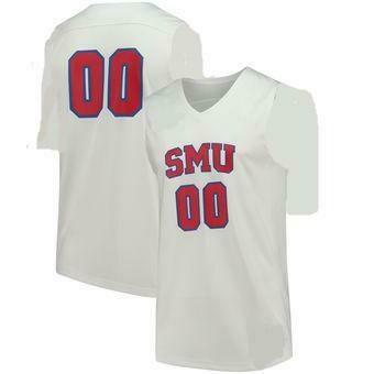 SMU Mustangs Style Customizable Football Jersey Style 1