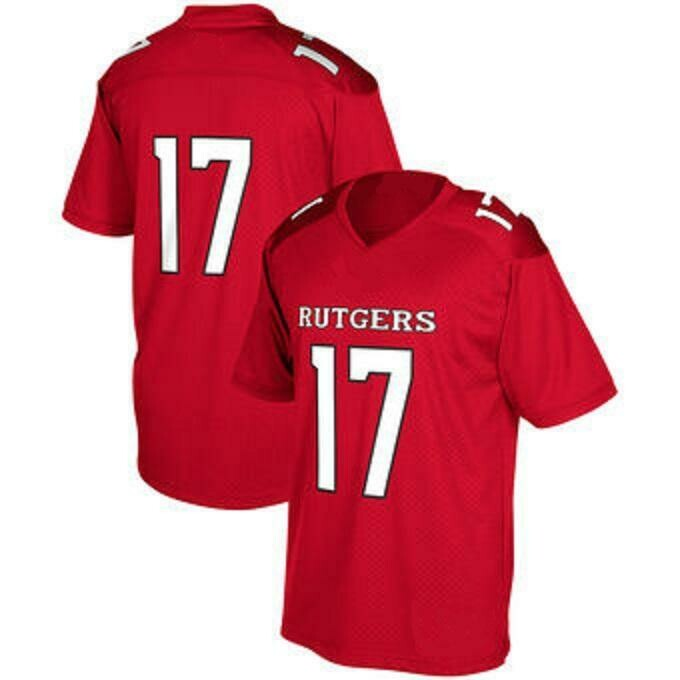 Rutgers Scarlet Knights Style Customizable Football Jersey Style 1