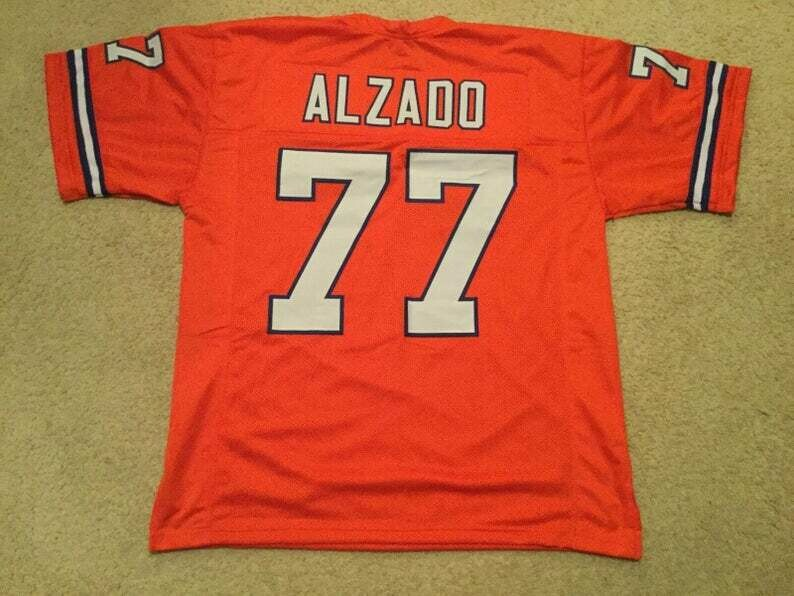 Lyle Alzado UNSIGNED CUSTOM Made Orange Jersey