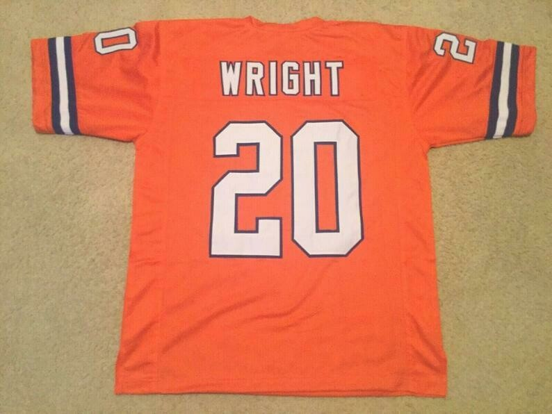 Louis Wright UNSIGNED CUSTOM Sewn Stitched Orange Jersey