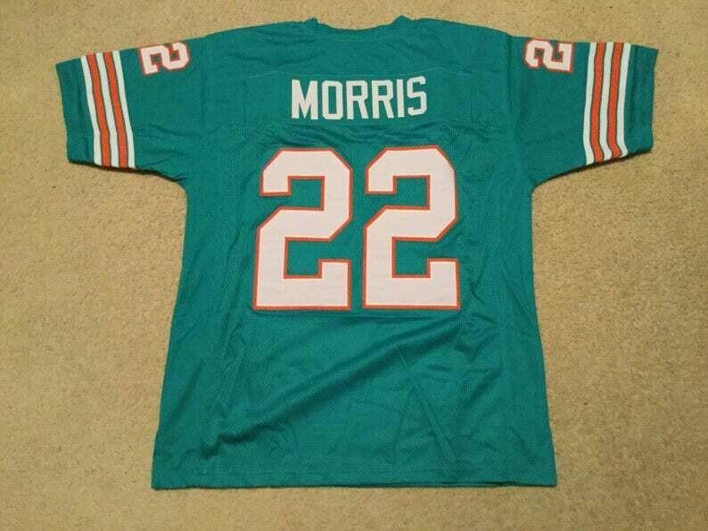 Mercury Morris UNSIGNED CUSTOM Made Teal Jersey
