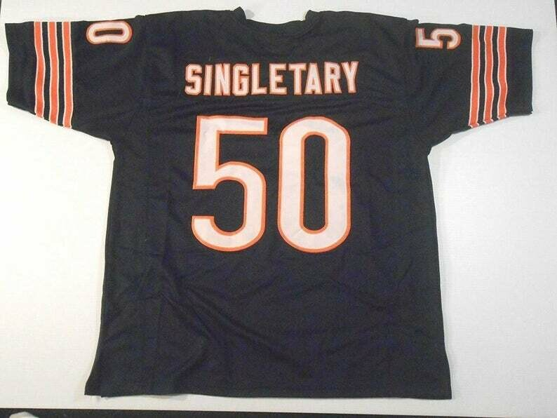 Mike Singletary UNSIGNED CUSTOM Made Blue Jersey
