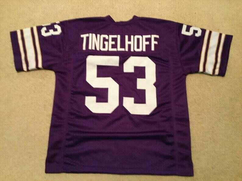 Mick Tingelhoff UNSIGNED CUSTOM Made Purple Jersey