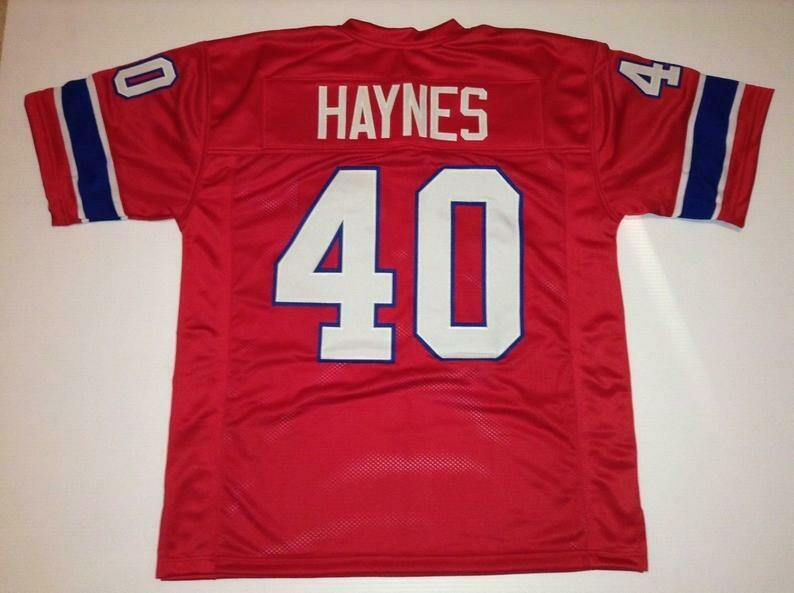 Mike Haynes UNSIGNED CUSTOM Made Red Jersey