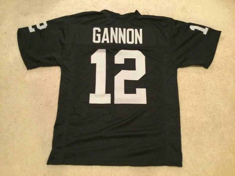 Rich Gannon UNSIGNED CUSTOM Sewn Stitched Black Jersey
