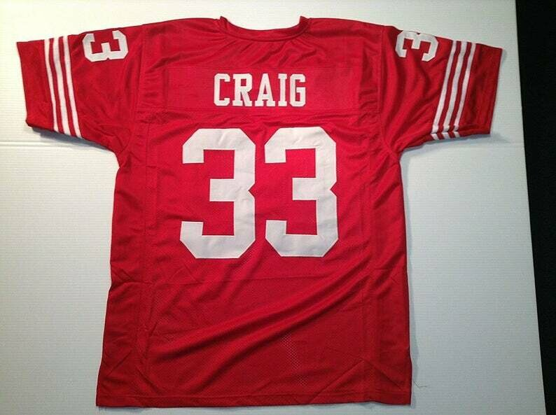 Roger Craig UNSIGNED CUSTOM Made Red Jersey