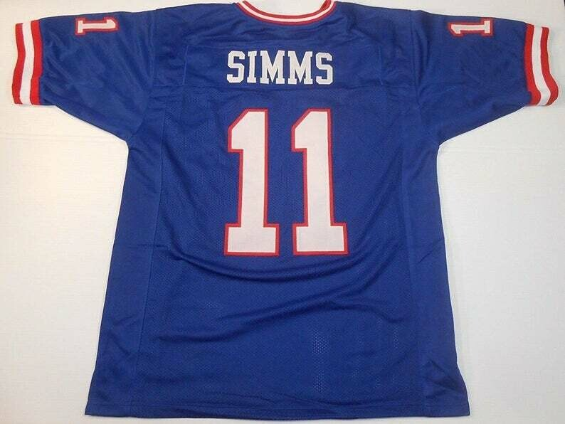 Phil Simms UNSIGNED CUSTOM Made Blue Jersey