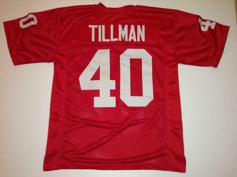 Pat Tillman UNSIGNED CUSTOM Made Red Jersey