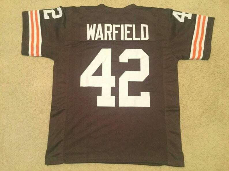 Paul Warfield UNSIGNED CUSTOM Made Brown Jersey
