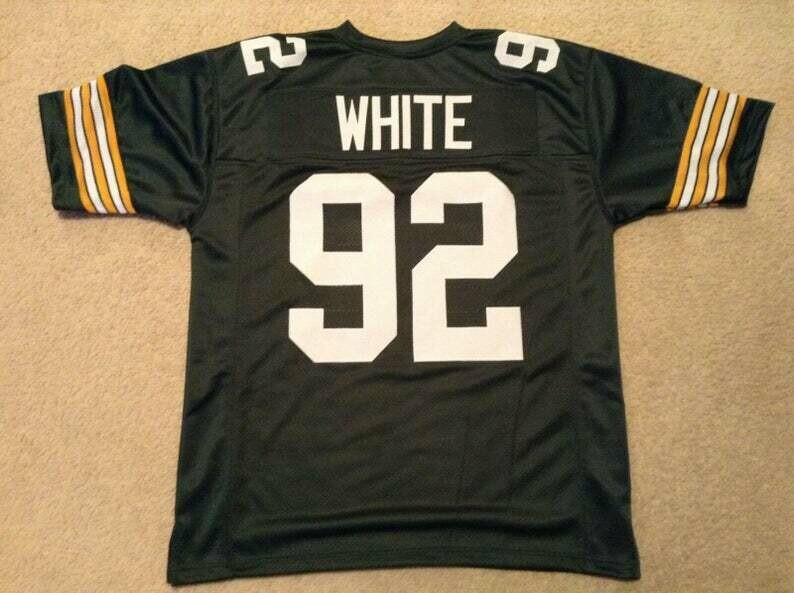 Reggie White UNSIGNED CUSTOM Made Green Jersey