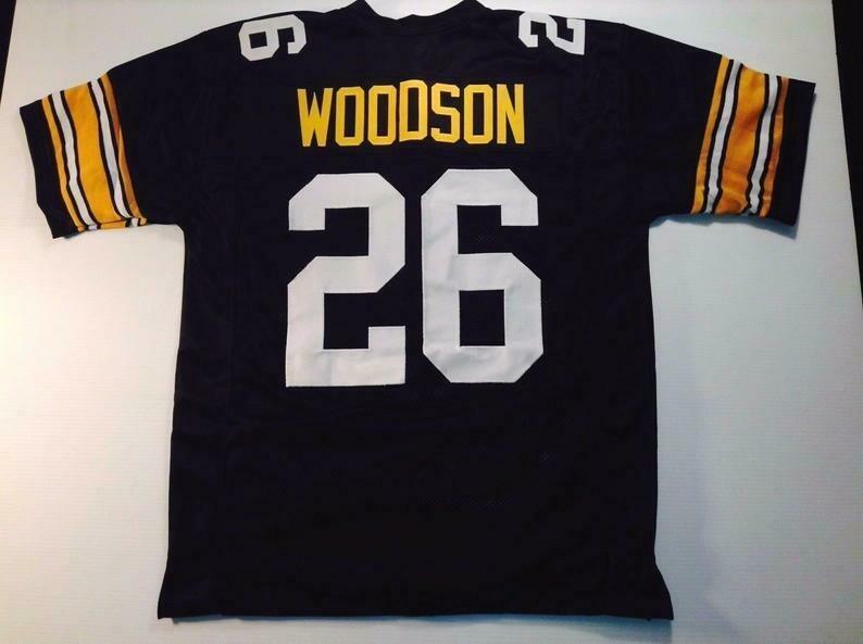 Rod Woodson UNSIGNED CUSTOM Made Black Jersey