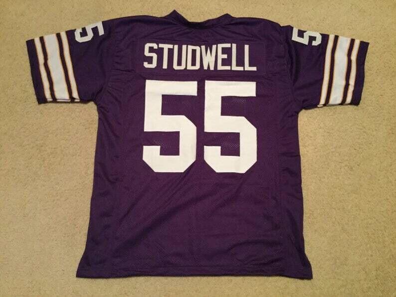 Scott Studwell UNSIGNED CUSTOM Made Purple Jersey
