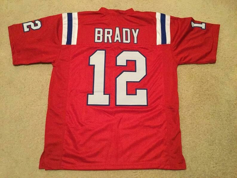 Tom Brady UNSIGNED CUSTOM Made Red Jersey