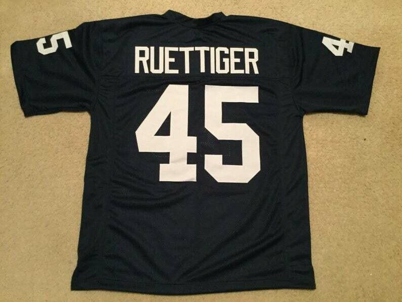 Rudy Ruettiger UNSIGNED CUSTOM Made Blue Jersey