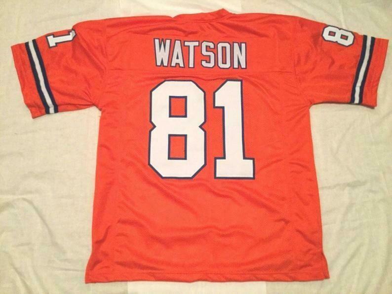 Steve Watson UNSIGNED CUSTOM Sewn Stitched Orange Jersey