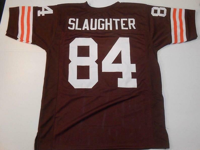 Webster Slaughter UNSIGNED CUSTOM Made Brown Jersey
