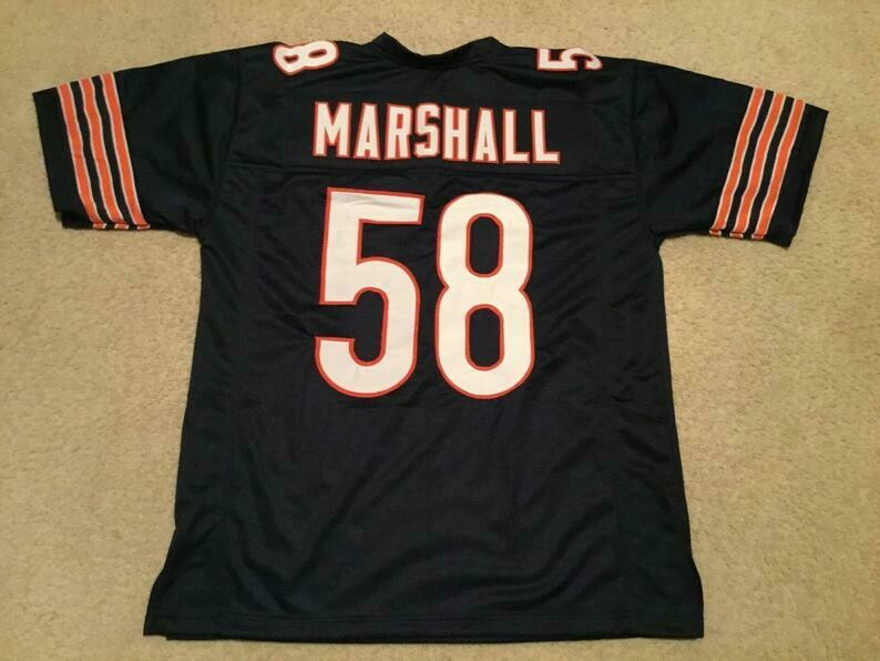 Wilber Marshall UNSIGNED CUSTOM Sewn Stitched Blue Jersey