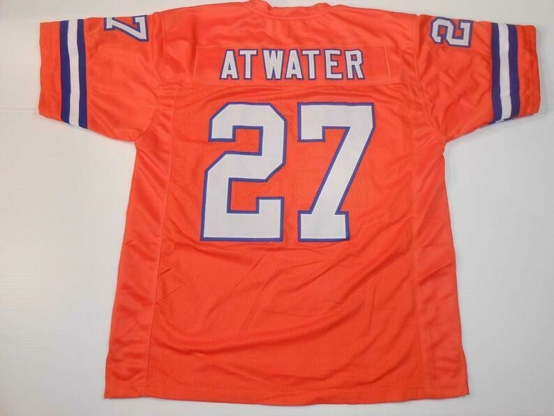 Steve Atwater UNSIGNED CUSTOM Made Orange Jersey