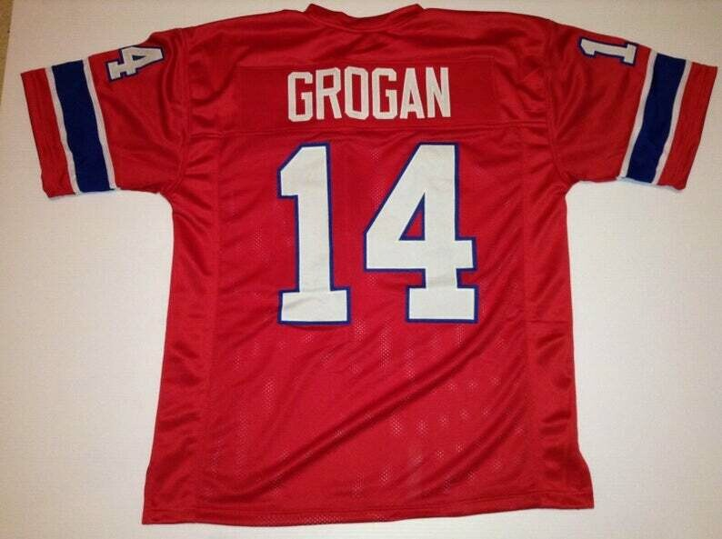Steve Grogan UNSIGNED CUSTOM Made Red Jersey