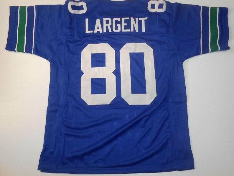 Steve Largent UNSIGNED CUSTOM Made Blue Jersey