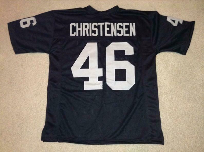Todd Christensen UNSIGNED CUSTOM Made Black Jersey