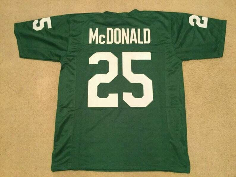 Tommy McDonald UNSIGNED CUSTOM Made Green Jersey