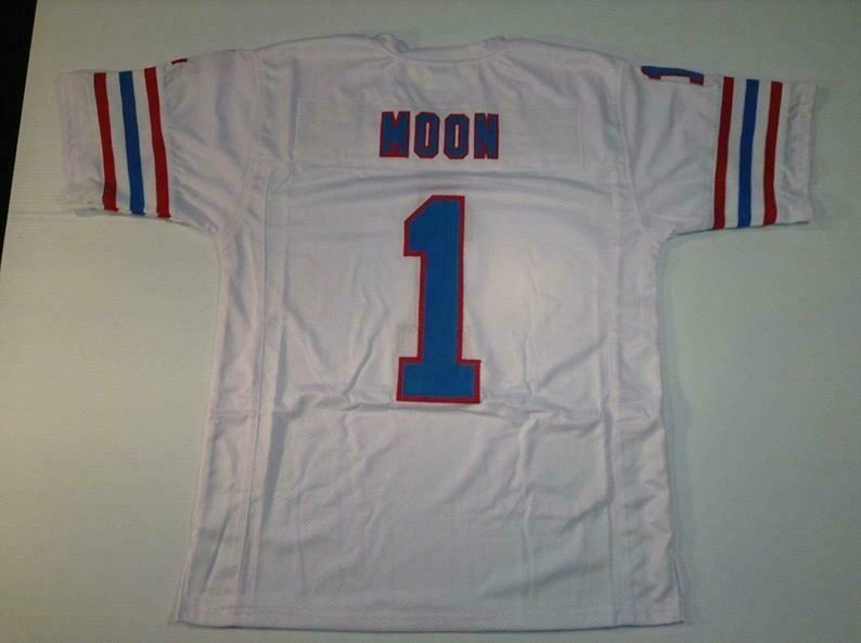 Warren Moon UNSIGNED CUSTOM Made White Jersey