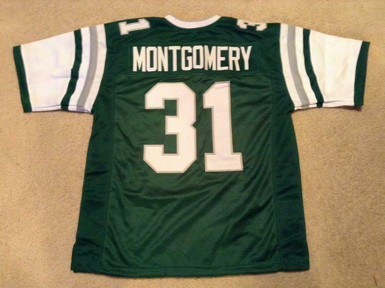 Wilbert Montgomery UNSIGNED CUSTOM Made Green Jersey