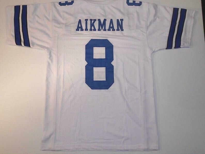 Troy Aikman UNSIGNED CUSTOM White Jersey