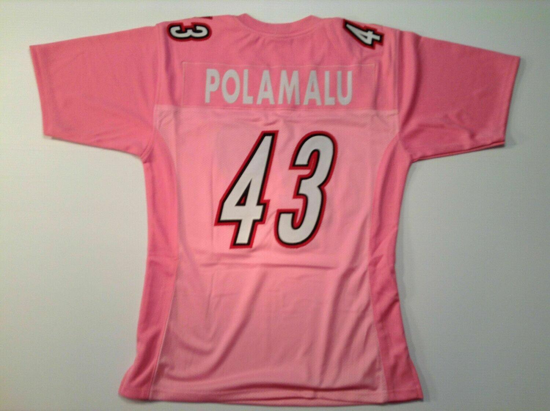 Troy Polamalu UNSIGNED CUSTOM Pink Jersey