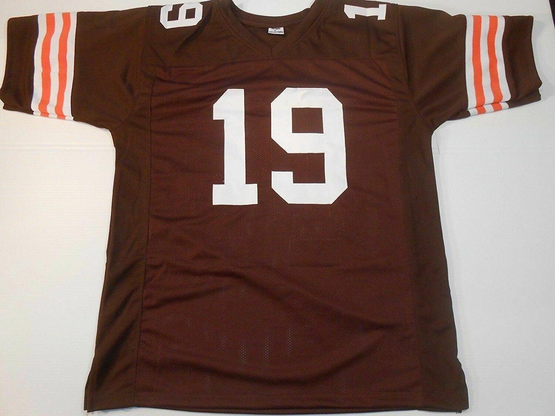 Unsigned Custom Sewn Stitched Bernie Kosar Brown Jersey