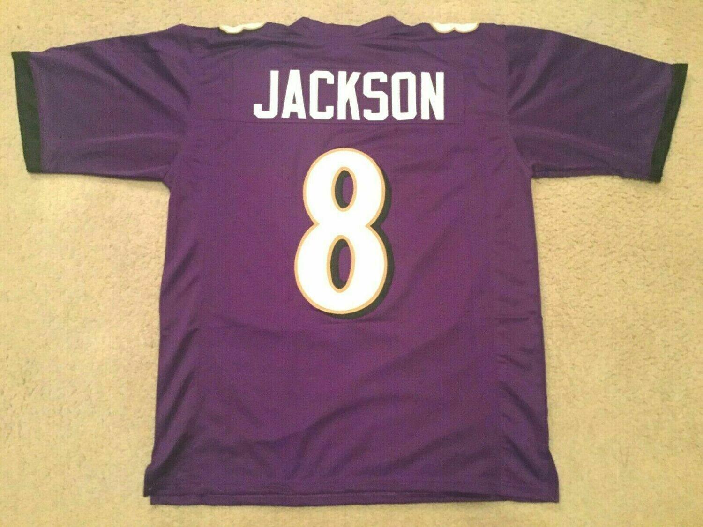 Lamar Jackson UNSIGNED CUSTOM Sewn Stitched Jersey