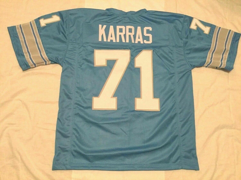 Unsigned Custom Sewn Stitched Alex Karras Blue Jersey