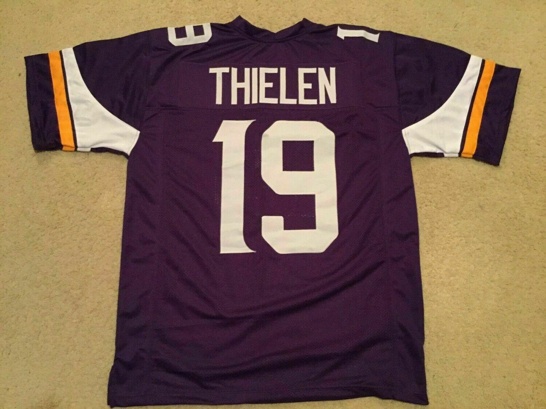 UNSIGNED CUSTOM Sewn Stitched Adam Thielen Purple Jersey