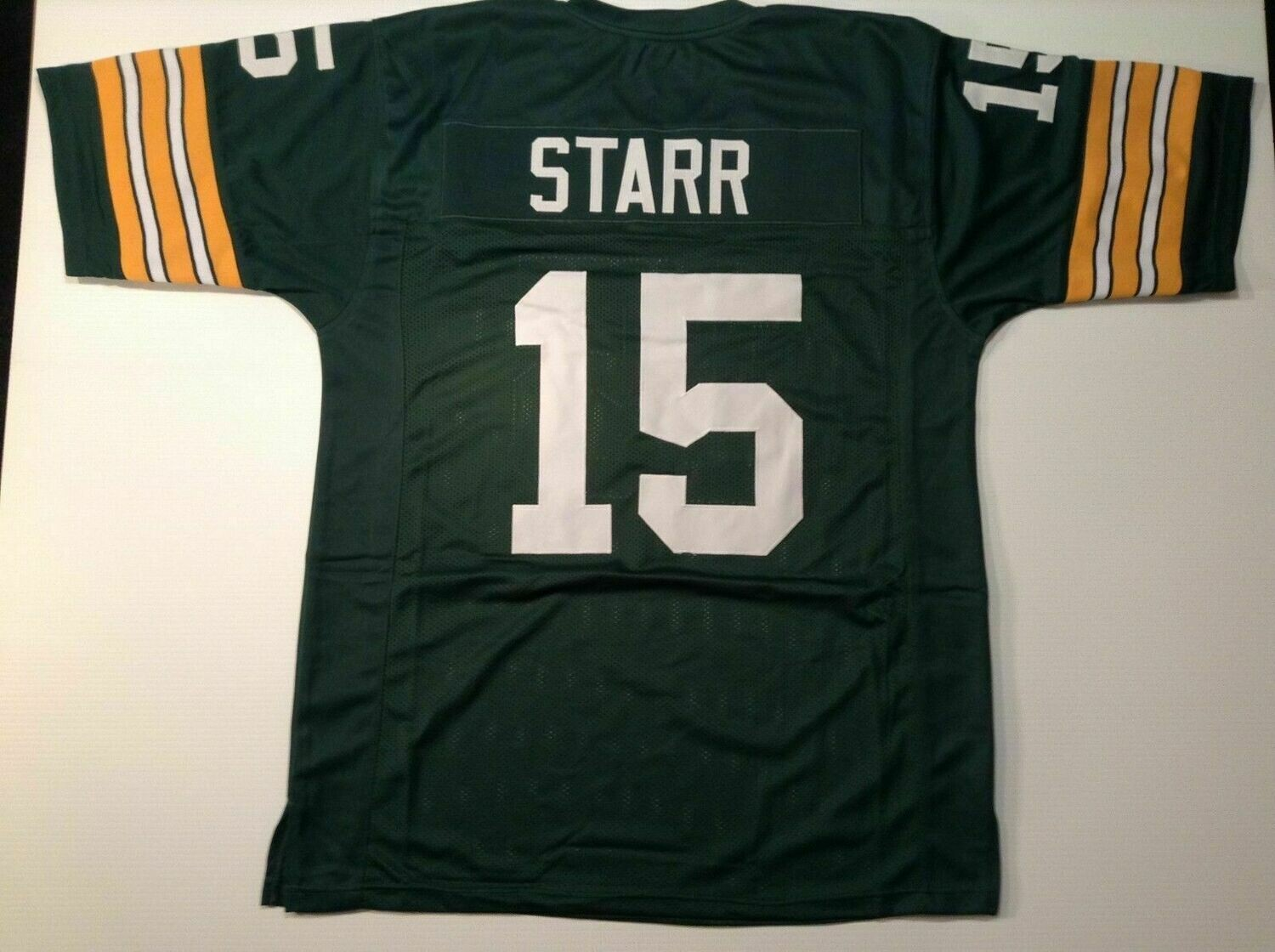 Unsigned Custom Sewn Stitched Bart Starr Green Jersey