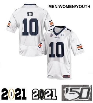 Auburn Tigers #10 Bo Nix Football Jersey White