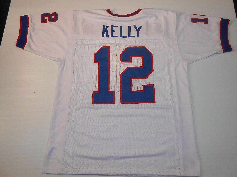 UNSIGNED CUSTOM Sewn Stitched Jim Kelly White Jersey