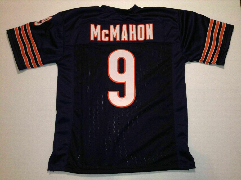 UNSIGNED CUSTOM Sewn Stitched Jim McMahon Blue Jersey