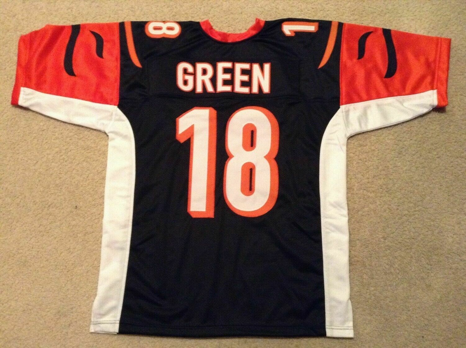 UNSIGNED CUSTOM Sewn Stitched A.J. Green Black Jersey