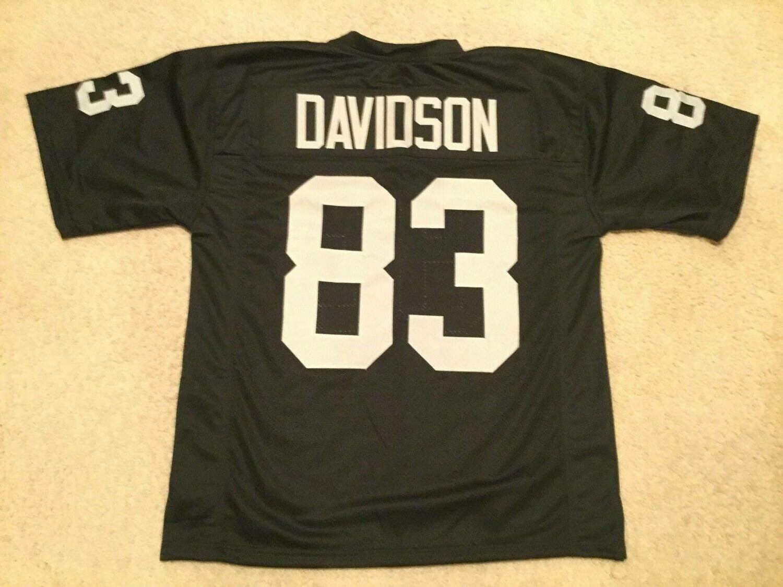 Unsigned Custom Sewn Stitched Ben Davidson Black Jersey