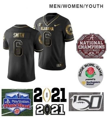 Alabama Crimson Tide #6 DeVonta Smith College Football Black Jersey