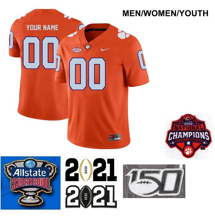 Clemson Tigers Customize Legend Stitched College Football Jersey Orange
