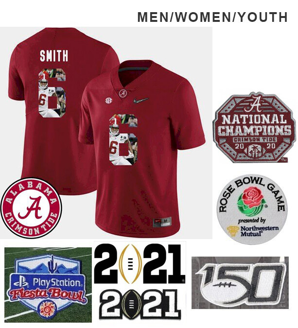 Alabama Crimson Tide #6 DeVonta Smith College Football Red Jersey
