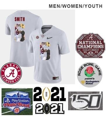 Alabama Crimson Tide #6 DeVonta Smith College Football White Jersey